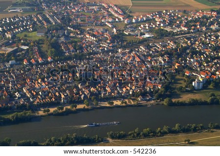 aerial view of a city - stock photo