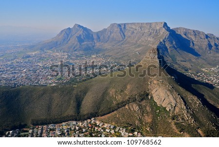 Aerial view of Cape Town, South Africa - stock photo