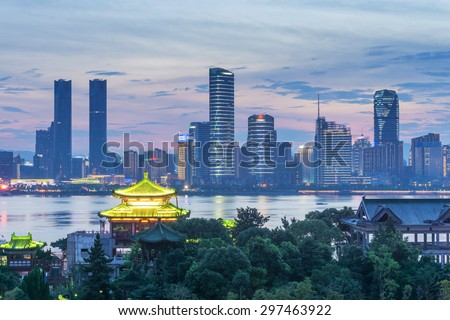 Aerial view of chinese city,shenzhen - stock photo