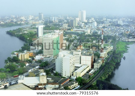 Aerial view of Colombo from Colombo World Trade Centre