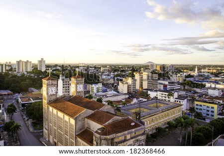 Aerial view of Cuiaba city, Brazil - stock photo
