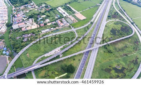 Aerial view of express way