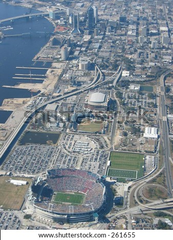 Aerial View of Gator Bowl
