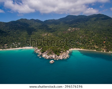 Aerial view of Koh Phangan, Thailand