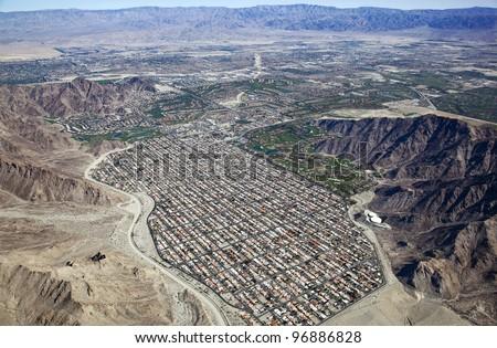 Aerial view of La Quinta, California - stock photo