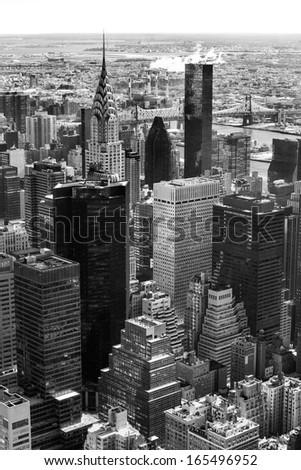 Aerial view of Manhattan, New York City. USA. - stock photo