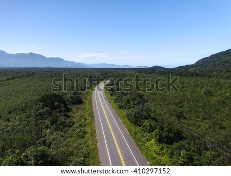 Aerial View of Mogi Bertioga highway, Sao Paulo, Brazil