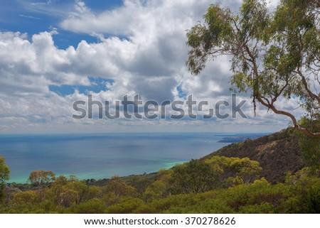 Aerial view of Mornington Peninsula, Melbourne, Australia. - stock photo