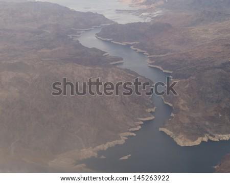 Aerial View of Nevada near Las Vegas - stock photo