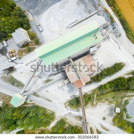 Aerial view of open cast mine.  - stock photo