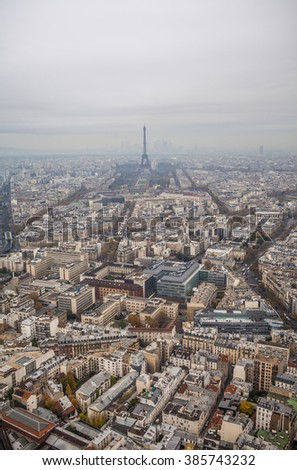 Aerial View of Paris from Maine-Montparnasse Tower