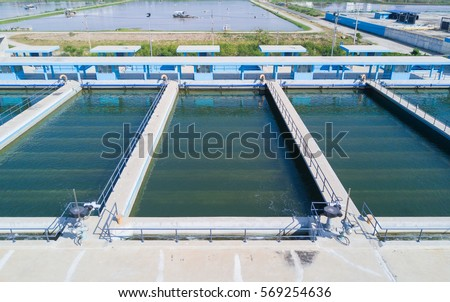 Aerial view of Rapid Sand Filters