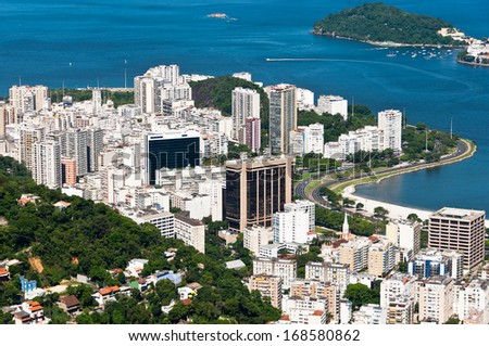 Aerial View of Residential Buildings in Rio de Janeiro, Brazil - stock photo