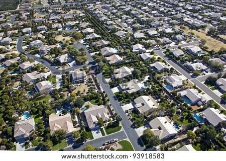 Suburbia stock photos images pictures shutterstock for Pool fill in mesa az
