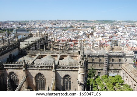 Aerial view of Seville Spain
