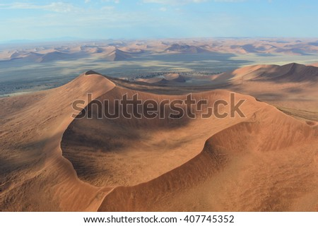 Aerial view of Sossusvlei, Namibia, Africa - stock photo