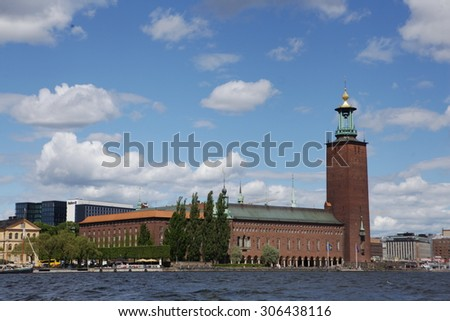 Aerial view of Stockholm, Sweden - stock photo