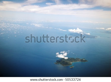 aerial view of the islands in Thailand - stock photo