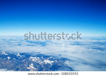 Aerial view of the mountain of the east in China(plains)
