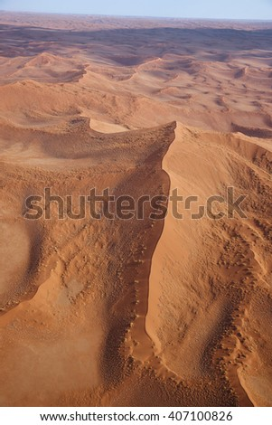 Aerial view of the sand dunes of Sossusvlei, Namibia, Africa