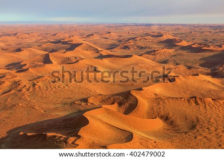 Aerial view of the Sossusvlei desert in the Namib Naukluft National Park, Namibia.