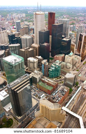 Aerial view of Toronto downtown, Canada