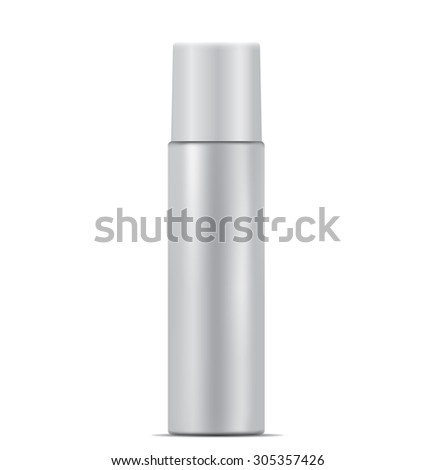 Aerosol spray metal bottle can - stock photo