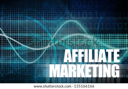 Affiliate Marketing to Make Money Online Concept - stock photo