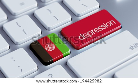 Afghanistan  High Resolution Depression Concept - stock photo