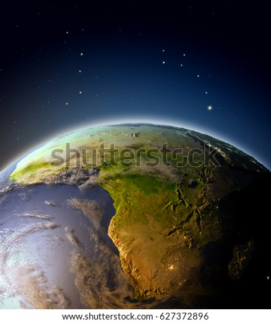 Suns Rays Rising Sun Illuminate Earth Stock Illustration ...