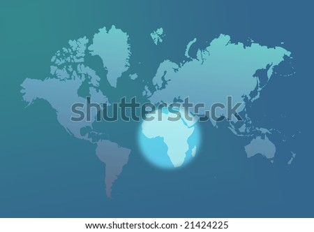 Africa highlighted on map