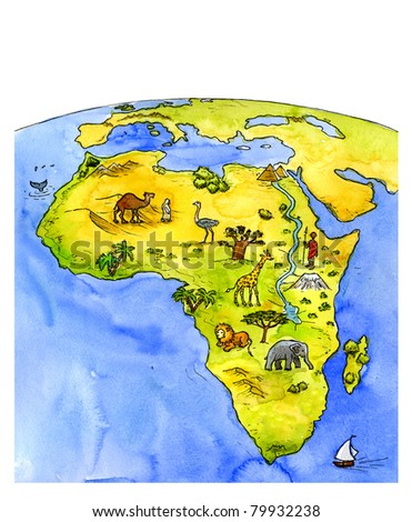 Africa, Illustration - stock photo