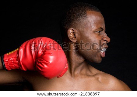 African American Boxer - stock photo