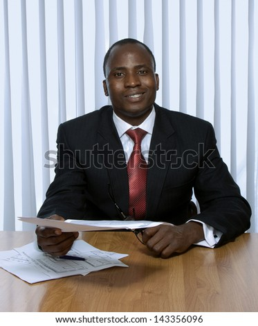 African american business man - stock photo