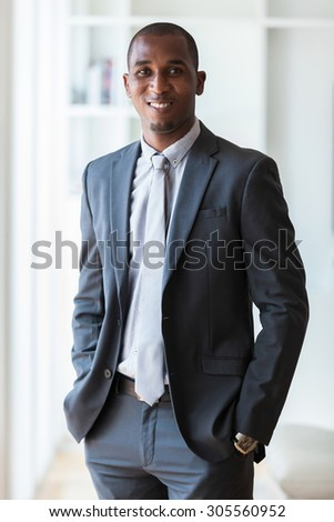 African american business man  - Black people - stock photo