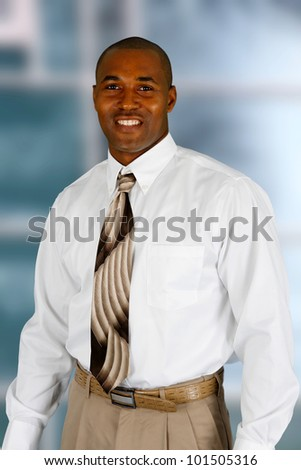 African american business man in his office - stock photo