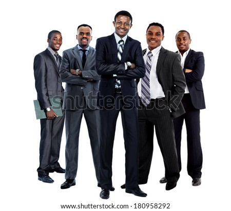 african american business team - stock photo