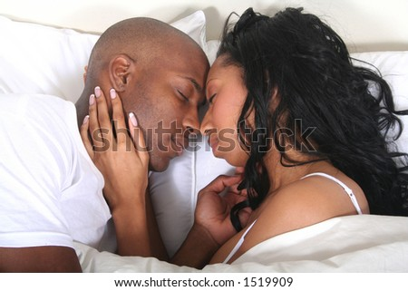African American Couple - Married People - Lovers - stock photo