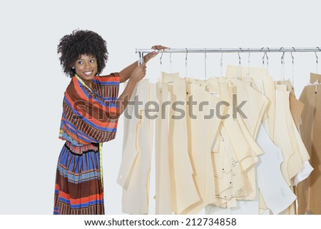 African American Female Designer Sewing Patterns Stock Photo (Edit ...
