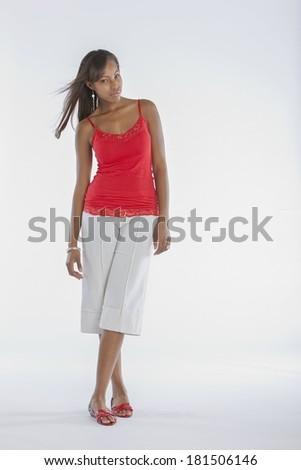 African-American Female Model Fashion - stock photo