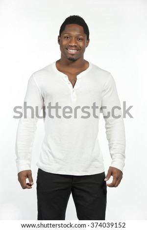 African American Male Model - stock photo