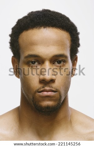 African American man looking angry - stock photo