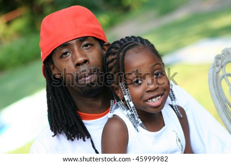 African American Man Parent and Child