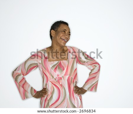 African American mature adult female portrait.