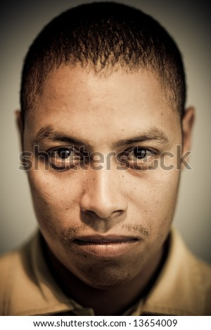African-American portrait with edgy process