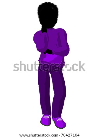 African american teen urban male dressed in casual clothes on a white background