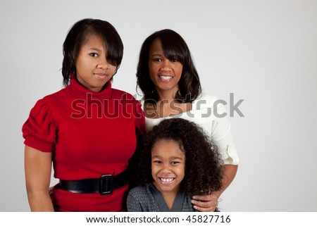 African american woman and her daughters