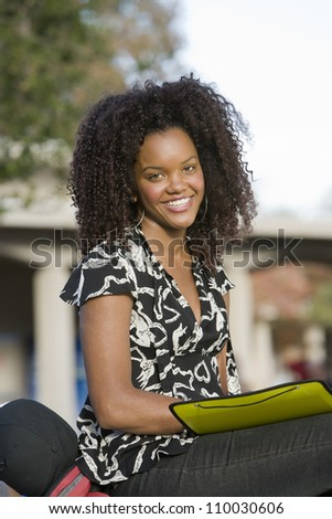 African American woman at campus