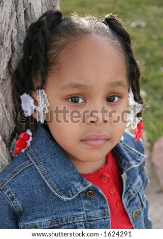 African American 3-Year-Old Girl