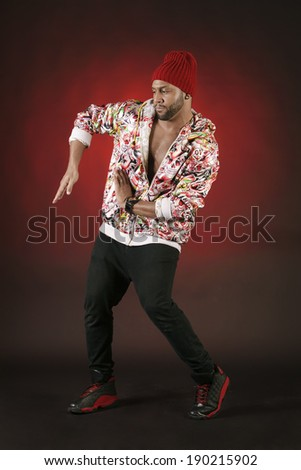 African American Young Street Dancer. - stock photo